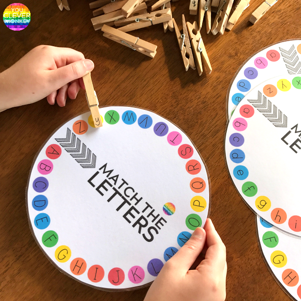 Initial Sounds Circles plus Matching Upper and Lower Case Letters